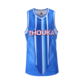 New design basketball jersey blue color college basketball uniform designs 15e9a7b1469c