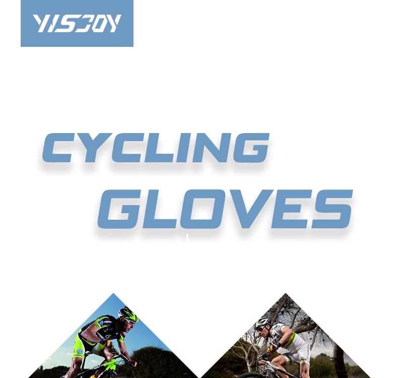 Yisjoy Penuh Jari Non-Slip Sepeda Sarung Tangan Desain Kustom Gunung Sepeda Bersepeda MTB Balap Olahraga Sarung Tangan untuk Pria Wanita