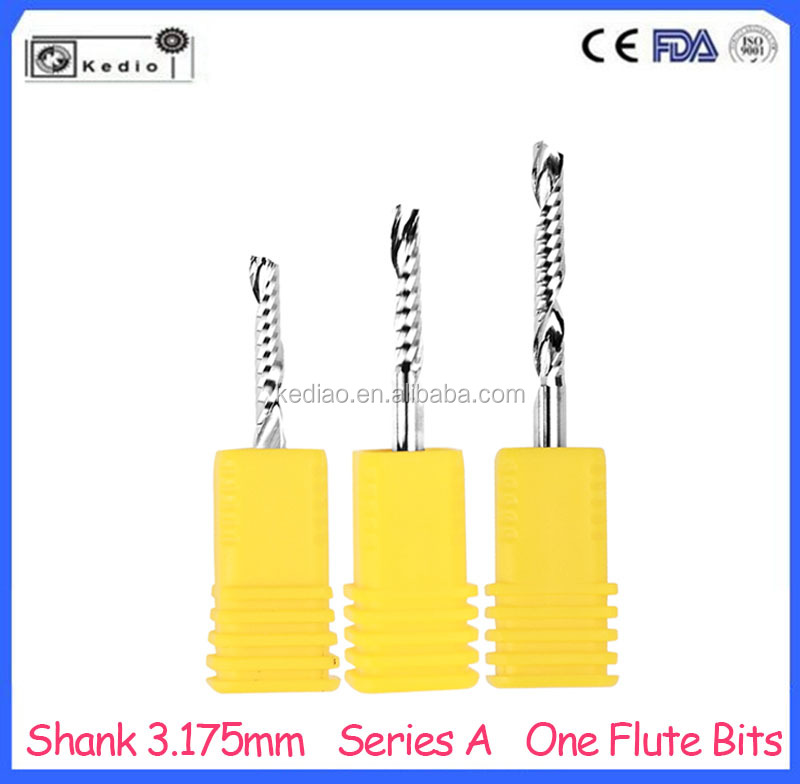Series A Single Spiral Flute End Mill shank 3.175mm Carbide CNC Router Bits for Engraving good quality