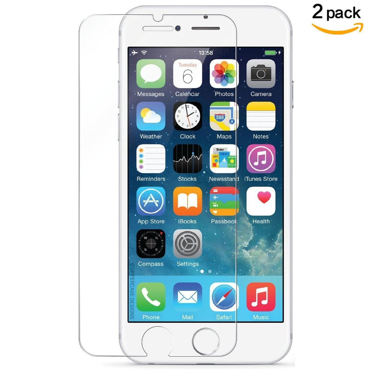 iPhone 7 Plus Screen Protector ,iPhone 6 Plus 6s Plus Tempered glass- Ultra Clear Layered (HD)- Hassle Free- Easy To Install-Bubble Free-2Pack