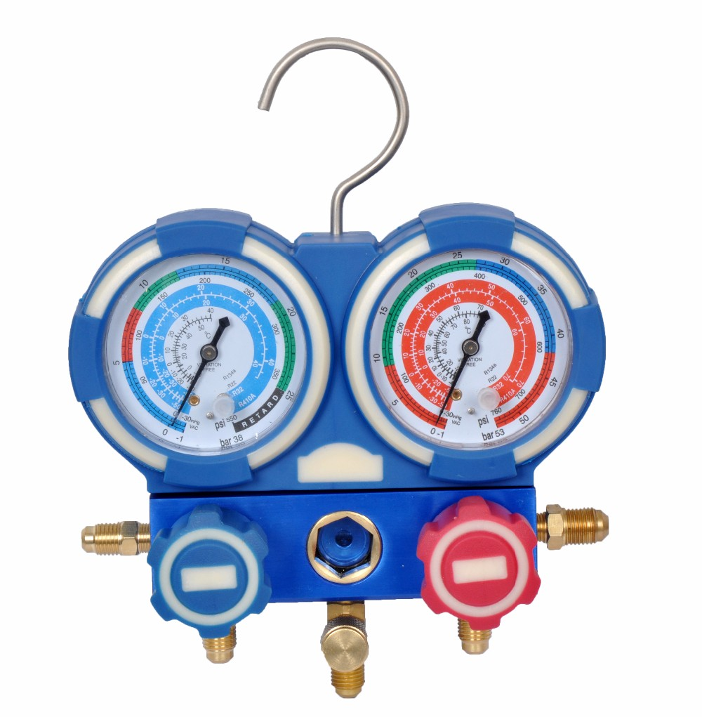 R32 Manifold Gauge Set With Charging Hose Value R22 Single Accurate Detailed Images