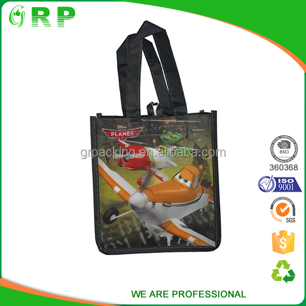 Promotional eco friendly reusable standard size cotton shopping bag