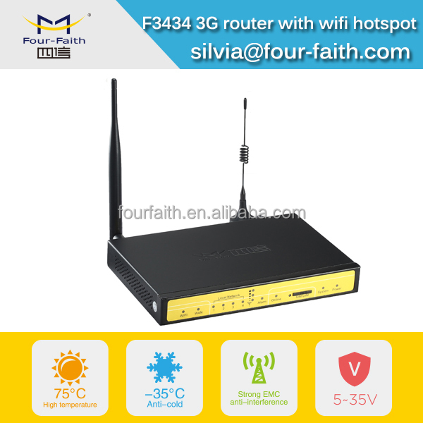 F3434 industrial 3G ethernet router rs485 wifi hotspot Mimo x 2 for Kiosk, ATM, vehicle billing system, LED display