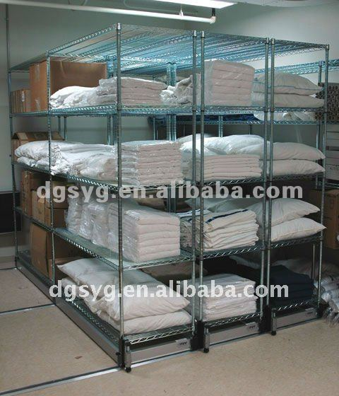 Hospital Wire Storage Shelving For Healthcare Sterile Linen Supply