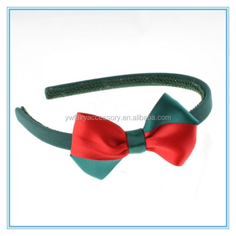 Christmas Ribbon Bow Hairband,Red Ribbon And Green Ribbon Bow For ...