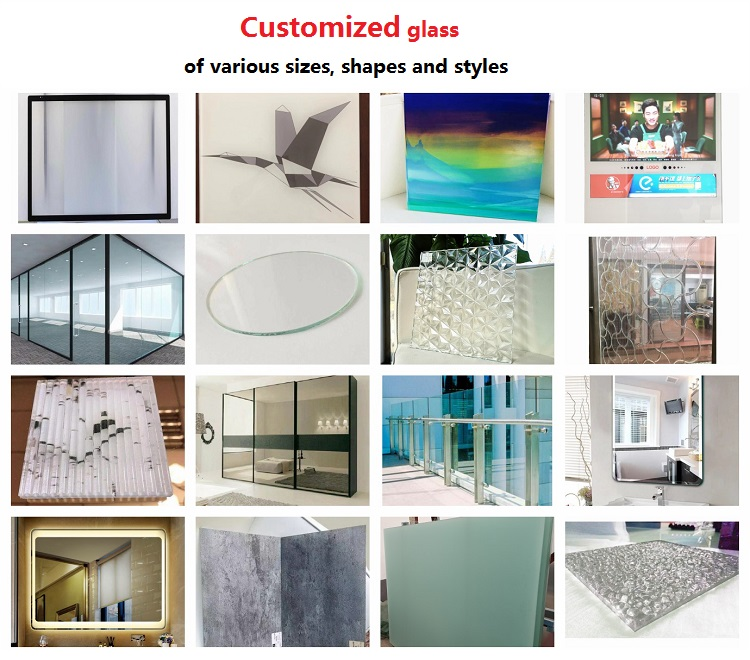 Tempered digital UV print glass laminated glass (can be customized glass)
