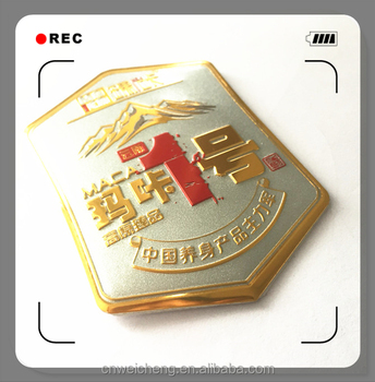 China manufacture professional 3d logo stickers