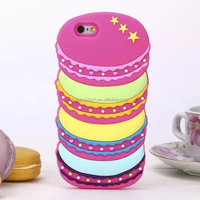For Iphone 5 5s/SE/6 6s/6 Plus 6s Plus 3D Silicon Candy Macarons Laduree Sweet Soft Phone Back Skin Case Cover