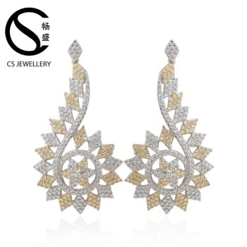 Women New Design Earrings Trendy Chandelier Arabic Gold Earring Designs