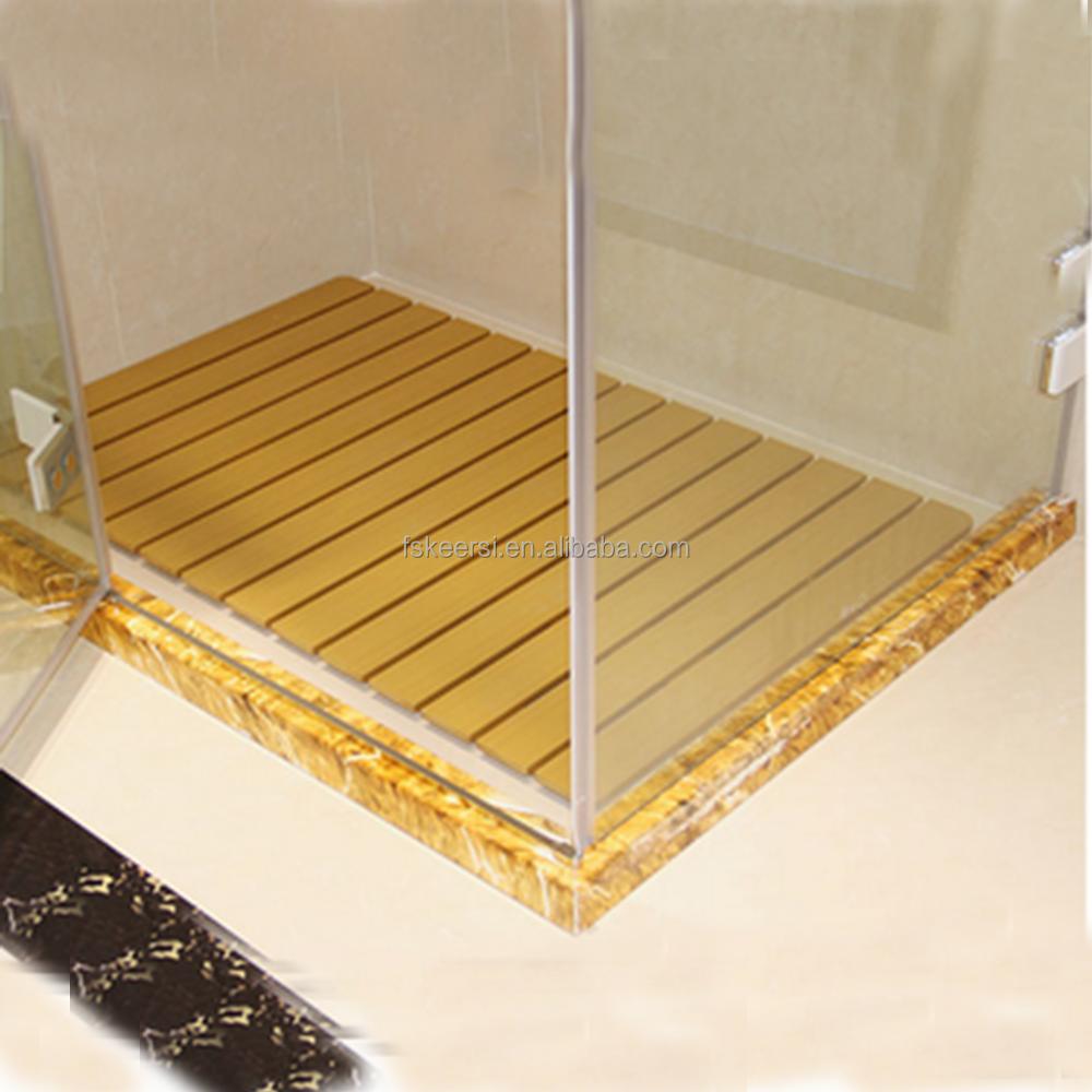 Rutschfeste kunststoff holz bodenmatte für duschwanne bad ...