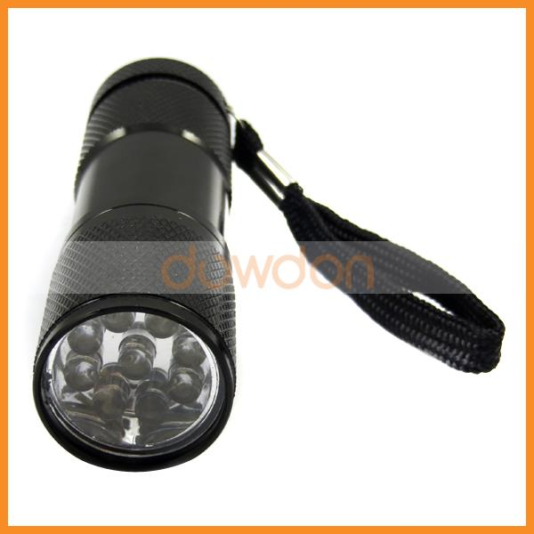 Mini Size Practical Usage Violet 395nm Flashlight 9 LED UV Torch