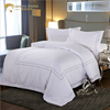 luxury hotel embroidery white color 100% cotton comforter sets bedding