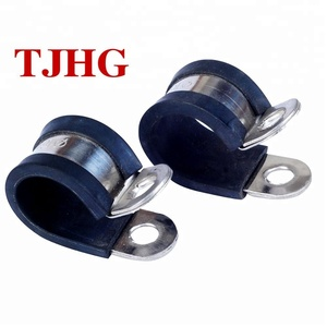 12mm/15mm Stainless steel pipe clips plastic EPDM rubber lined