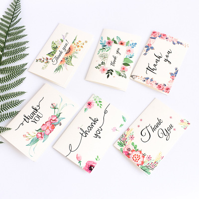 6 PC Flower Thank You Card Envelope Packaging Birthday Valentine's Day <strong>Wedding</strong> Favors Gifts Baby Shower Invitation Card Sets