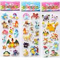 Cartoon Foam 3D Sticker Cute Pikachu Stickers Cartoon Anime Cute Stickers Rooms Home Decor Notebook Label