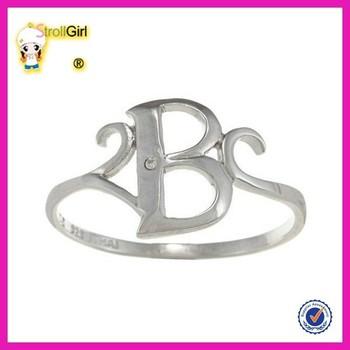 Surat Pribadi Surat Emas Putih Cincin Fashion B Jewely Cincin Desain Buy Putih Emas Cincinsurat Cincinsurat B Perhiasan Rings Product On