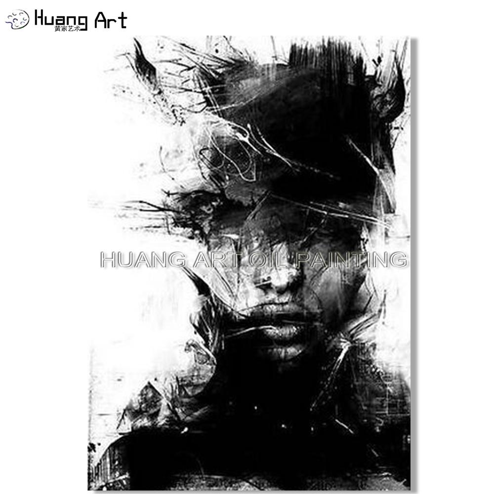 Lukisan Wajah Abstrak Hitam Putih Cikimm Com