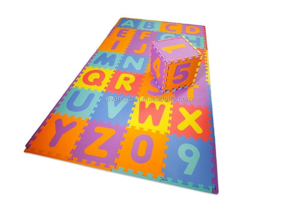 Bambini foam puzzle gioca mat abc alfabeto con numeri eva non