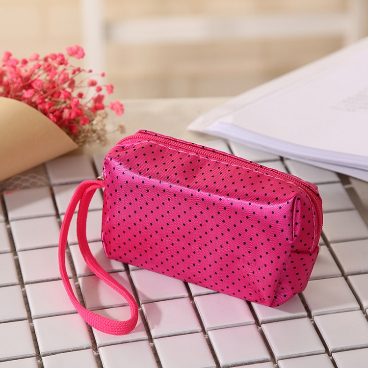 cheap promotional multicolor waterproof polyester makeup bag <strong>cosmetic</strong>