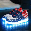 2016 Summer Shoes Boys Girls Sneakers with Led Light Little Kids Rubber Bottom Shoes Children Star