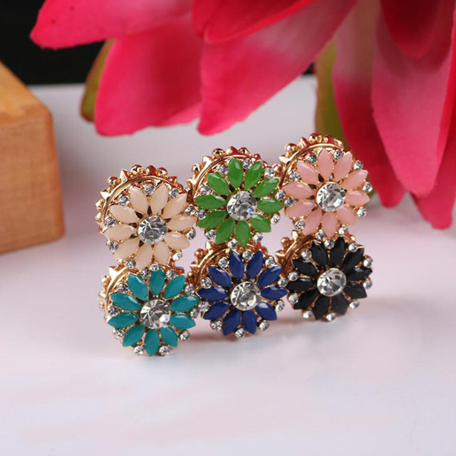 6pcs/set Strong Magnet Brooch Sun Flower Brooches Pin Muslim Headscarf Abaya Khimar brooch Magnetic Hijab Pin Scarf Buckle