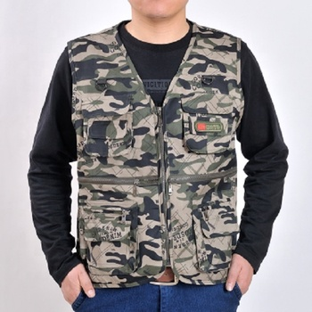 The cheaper high quality camouflage arm green and multi pocket vest for men