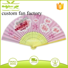 Popular Cheap Personalized Silk Hand Fan for Wedding Invitation favors