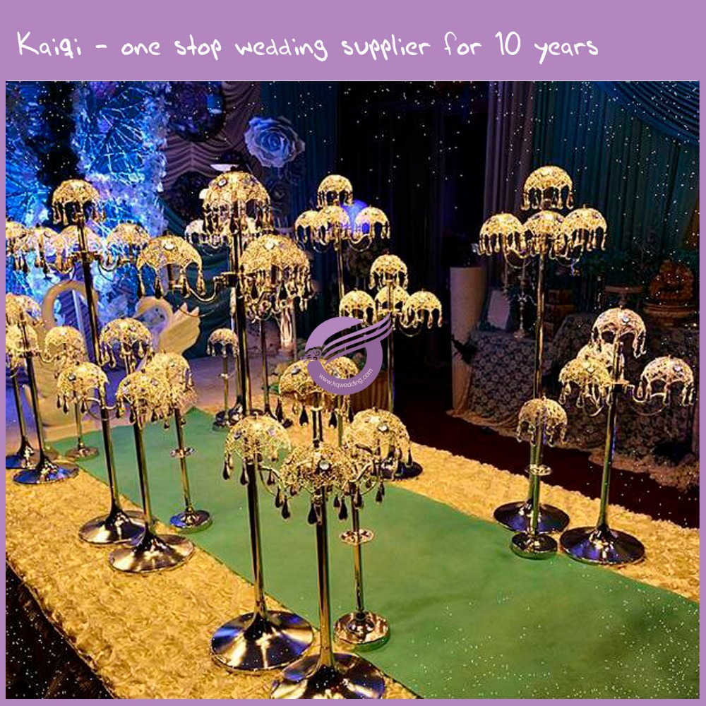wedding lights crystal decoration pillars walkway for wedding and event