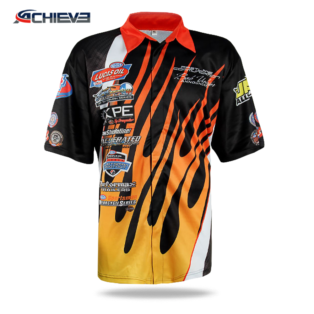 Custom Sublimation Racing Team Pit Crew Shirtracing Suit F1racing