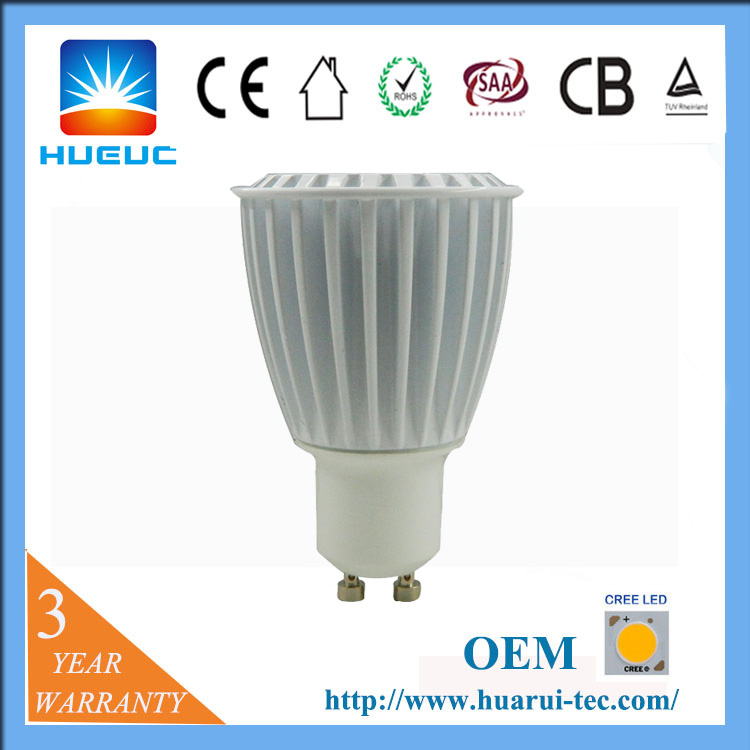 energy saving lamp gu10 6w led dimmable for die cast aluminum housing