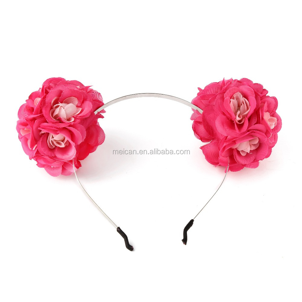 2017 cute kids Double flower headband hair accessories