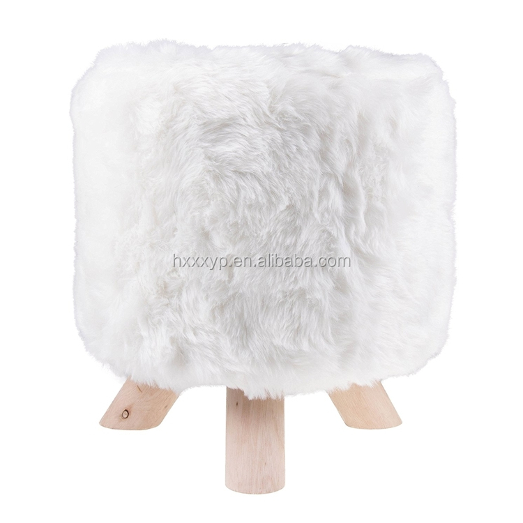 Remarkable Wood Faux Fur Round Stool 13 X 19 White Buy Kids Wooden Stool Kids Foot Stool Kids Storage Stool Product On Alibaba Com Cjindustries Chair Design For Home Cjindustriesco