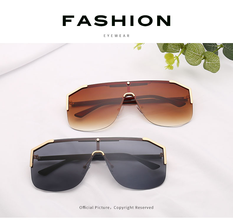 Sunglasses Women Metal Frame oversized sunglasses 2019 women