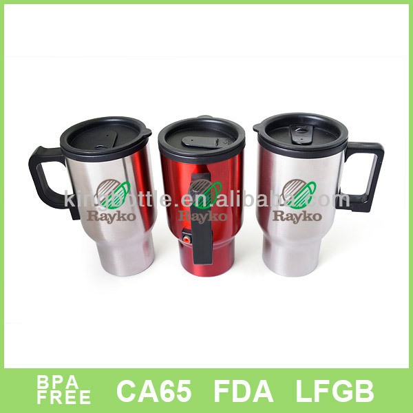 12v heat resistant with electric plug plastic heat mug