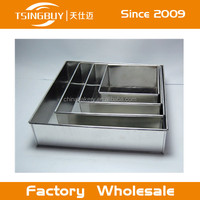 "4 Tier Christmas Square Wedding Baking Cake Tins Pans 6"" 8"" 10"" 12"" All 4"" Deep"