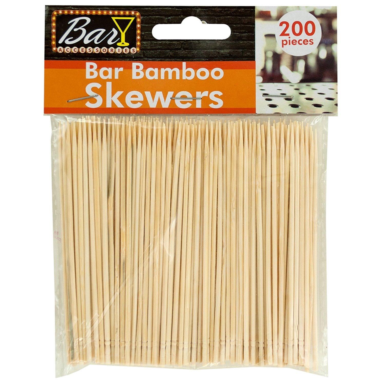 123-Wholesale - Set of 36 - Bar Bamboo Skewers - Kitchen & Dining Kitchen Tools & Utensils