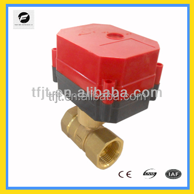 Automotive electric fuel heater control shut offvalve/electric motor operated control valve