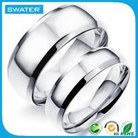 Dubai Gold Jewelry Fashion Plain Silver Mens Engagement Rings