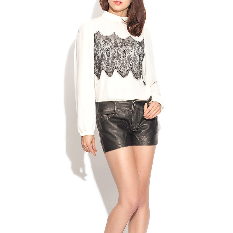 European Modern Women Shorts Pu Leather Zipper Hot Summer Shorts