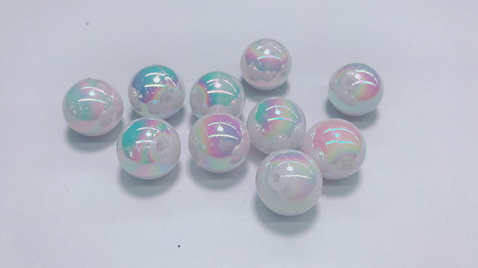 2020 Hot Sale Wholesale Cheap Plastic Beads Big Hole Round Beads Multicolour Acrylic  Round Beads
