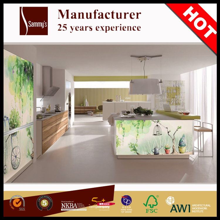High Polymer Aluminum Glass Cabinet Doors Kitchen Single For ...