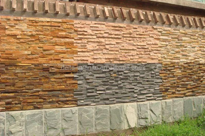 Stenen Muur Tuin : Decoratieve goedkope hoge kwaliteit machine gesneden stenen muur