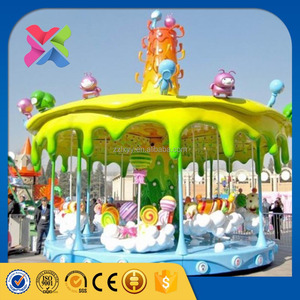 2016 hot selling funfair game kids candy carousel ride carousel rental