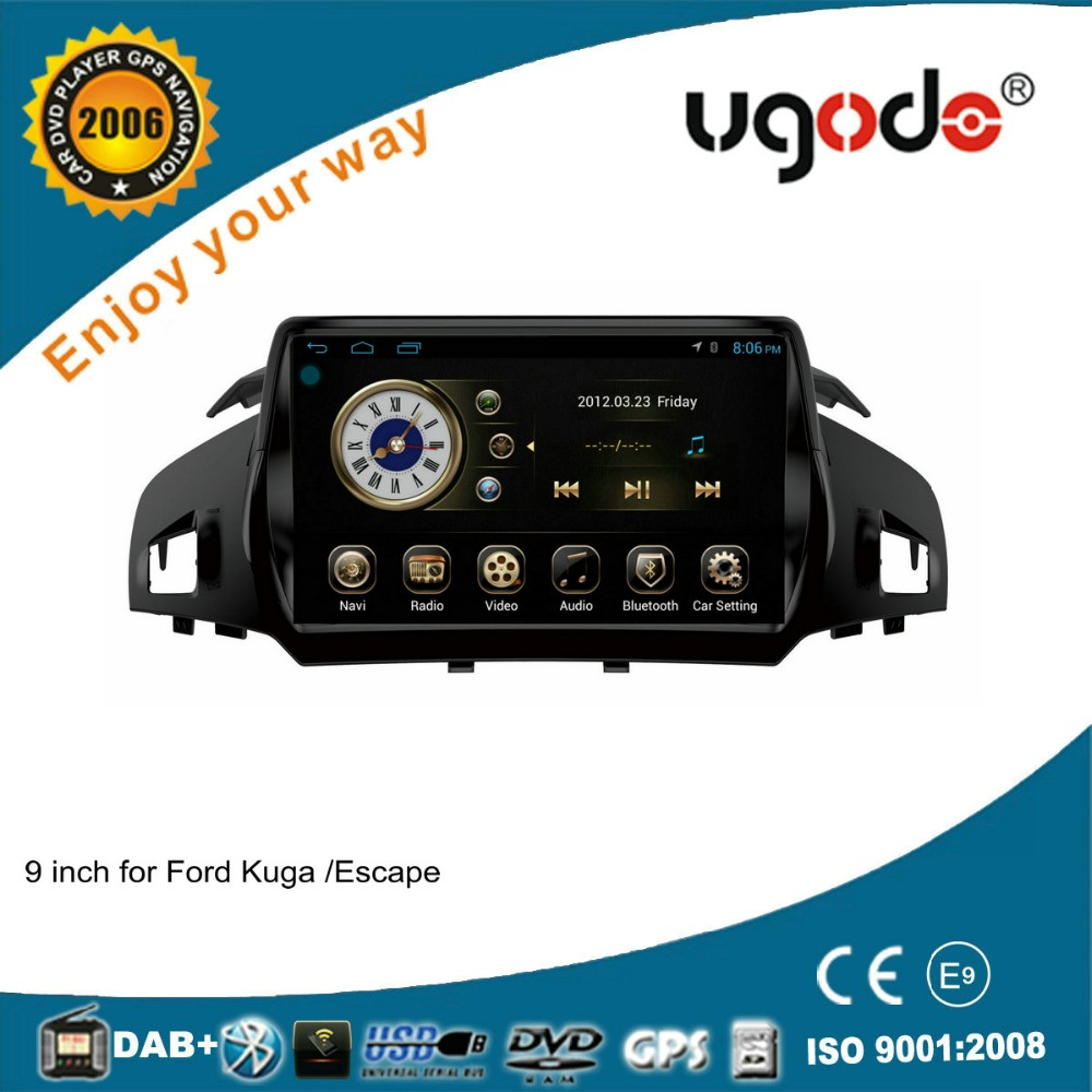 Android 4.4.4RK PX3 chipset quad core 9 inch auto dvd player for Ford Kuga car gps navigation