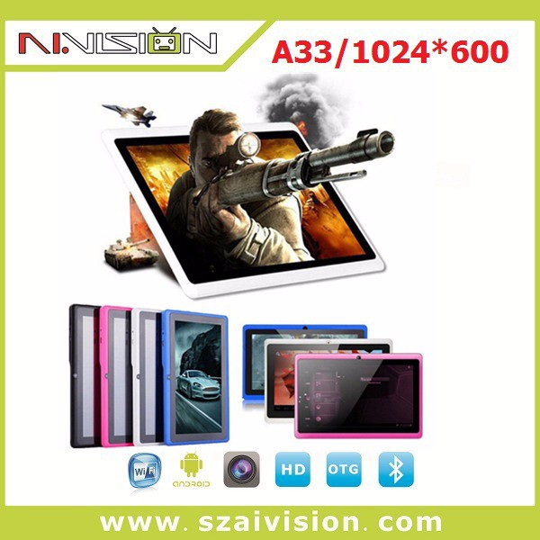 $27 for 1024*600 high resolution Android 4.4 Tablet PC , 7 inches allwinner a33 Tablet PC