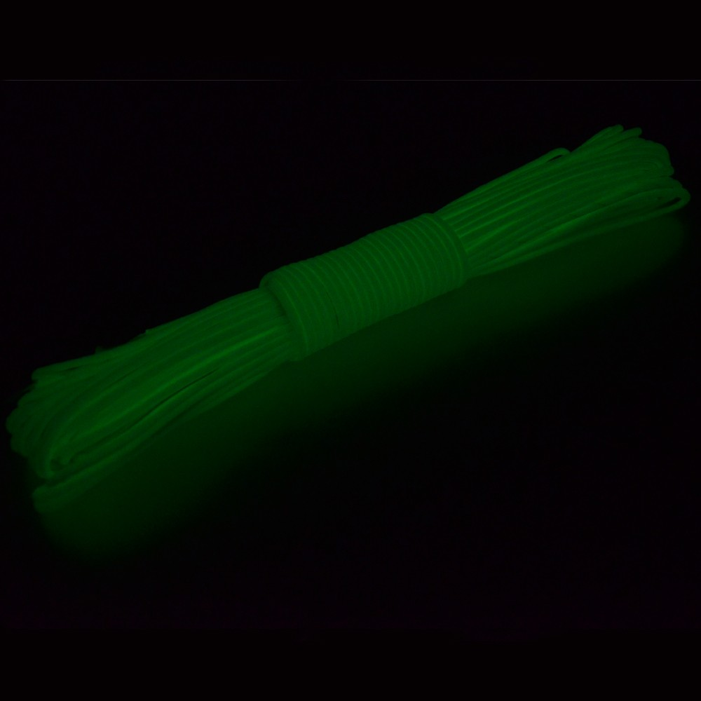 550 Type III Commercial Paracord 9 Strand 550 Luminous Glow in the Dark Parachute Cord Paracord