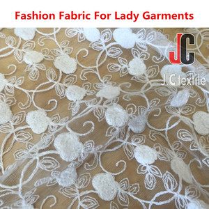 Manufacturer supply 100% polyester spandex indian bridal lace fabric for lady