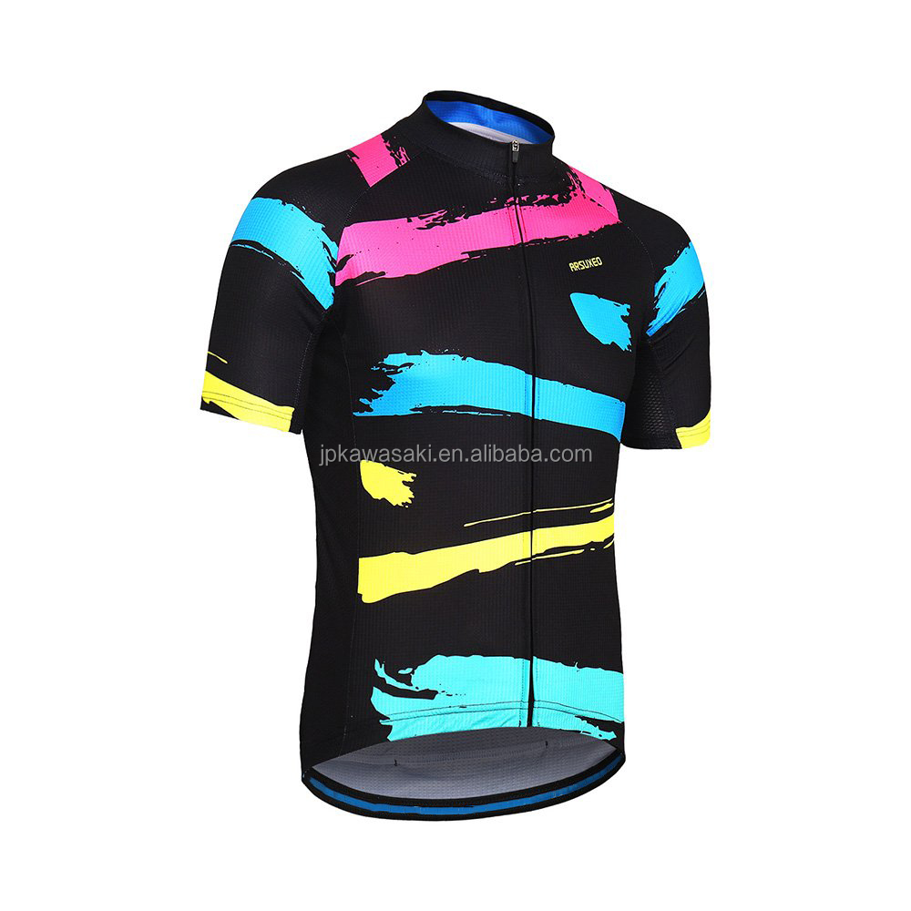 Quick Dry Summer Cycling JerseySublimation Printing  Summer Short Sleeve Cycling Jersey for Men and Women