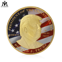 Custom White House Gold and Silver Color Coins For Collection Lovers New Design 40mm President Donald Trump Commemorative Coins