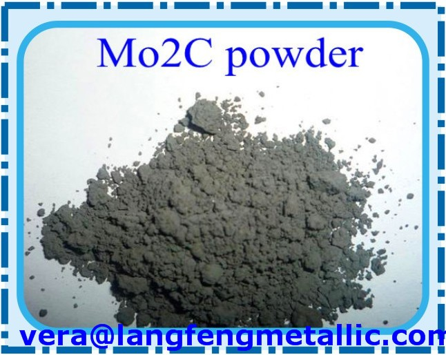 Molybdenum carbide powder 99.5% (metal basis); average particle size (APS) <1 um (FSSS), total C 5.85 %, free C <0.2%, Mo2C